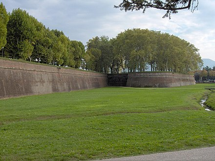 A stretch of the walls Lucca.city walls01.jpg