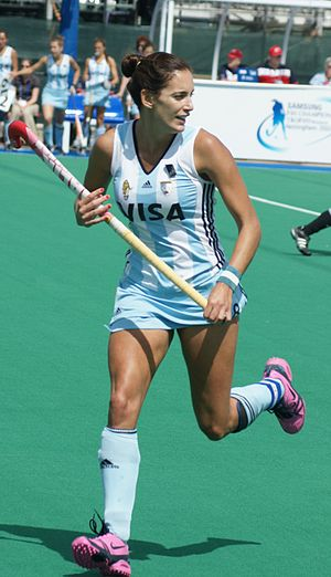 Argentina women's national field hockey team - Luciana Aymar, eight-time FIH Player of the Year Award, is considered as the best female hockey player of all time.