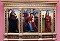 Ludovico mazzolino, trittico con madonna col bambino e santi, 1509.JPG