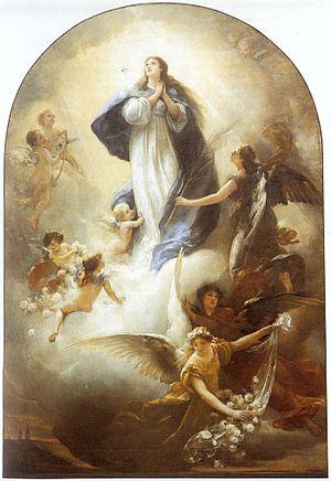 Ludwig von Löfftz - The Ascension of Mary (1888)