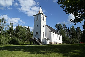 National Register of Historic Places listings in Iron County, Michigan - Image: Lutheran church Beechwood, Michigan