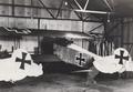 Lynn Garrison's Fokker D-V11s in hangar, Weston Aerodrome, Ireland.png