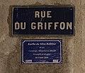 Mémoire trans (Karlla Da Silva Balbino) et plaque rue du Griffon (Lyon).jpg