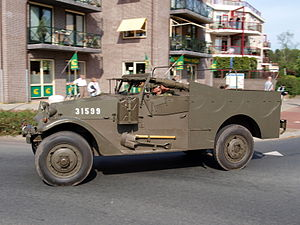M3 Scout Car, hood no 31599, Bridgehead 2011.JPG