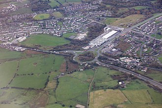 M67 motorway - The junction of the M67 with the A57 and A628