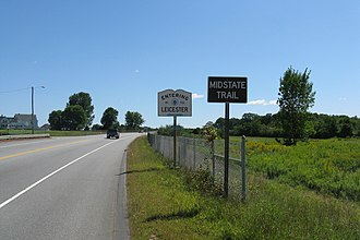Massachusetts Route 9 - Image: MA Route 9 entering Leicester, MA