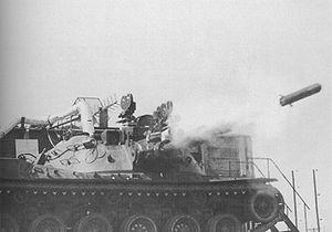 MBT-70 - MBT-70 prototype test firing an MGM-51 missile