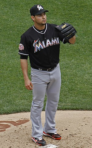 Aníbal Sánchez - Sánchez during his tenure with the Miami Marlins in 2012