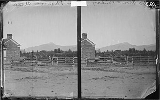 Beaver, Utah - Mt. Baldy viewed from Beaver, photographed by William Bell during the 1872 Wheeler Survey