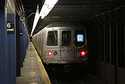 MTA NYC Subway C train leaving 86th St.jpg
