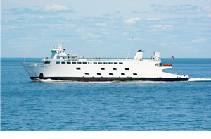 Bridgeport & Port Jefferson Ferry - The MV Park City crossing Long Island Sound during the summer of 2016