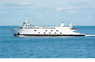 Bridgeport & Port Jefferson Ferry - The MV Park City crossing Long Island Sound during the summer of 2016