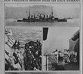 M 74 15 un contre torpilleur se ravitaillant à un cuirassé m268de74a.jpg