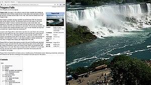 OS X El Capitan - An example of the split screen view in OS X El Capitan