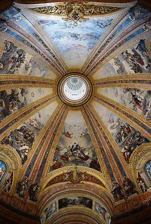Basilica of San Francisco el Grande, Madrid - Cupola with paintings by José Marcelo Contreras