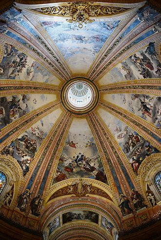 Basilica of San Francisco el Grande, Madrid - Cupola with paintings by José Marcelo Contreras