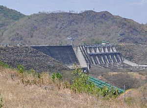 The Magat dam in Luzon Philippines