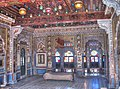 Maharajas room, within the Mehrangarh Fort Palace.jpg