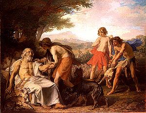 Diogène Maillart - Image: Maillart, Diogène Homère dans l'île de Scyros 1864