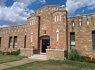 National Register of Historic Places listings in Greer County, Oklahoma - Image: Mangum Armory