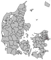 Location of Frederiksberg Kommune in Denmark