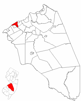 Map of Burlington County highlighting Delanco Township.png