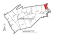 Map of Cumberland County Pennsylvania Highlighting East Pennsboro Township.PNG