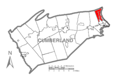 Map of Cumberland County, Pennsylvania highlighting East Pennsboro Township