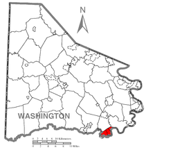 Location of East Bethlehem Township in Washington County