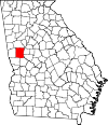 Map of Georgia highlighting Meriwether County.svg