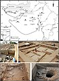 Map of Gujarat showing Khirsara and Indus Valley Civilization Khirsara excavation site.jpg