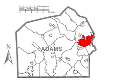Map of Hamilton Township, Adams County, Pennsylvania Highlighted.png