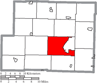 Cadiz Township, Harrison County, Ohio - Image: Map of Harrison County Ohio Highlighting Cadiz Township