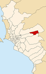 Map of Lima highlighting Chaclacayo.PNG