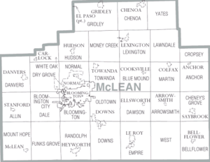 McLean County, Illinois - Map of McLean County, Illinois