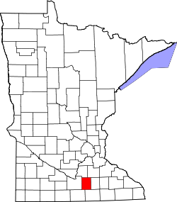 Map of Minnesota highlighting Waseca County.svg