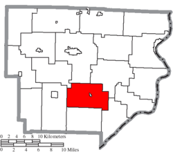 Location of Perry Township in Monroe County