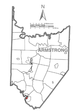 Map of North Apollo, Armstrong County, Pennsylvania Highlighted.png