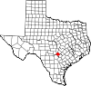State map highlighting Comal County