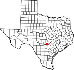 map of Texas highlighting Comal County