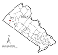 Map of Trumbauersville, Bucks County, Pennsylvania Highlighted.png