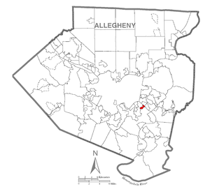 Map of Whitaker, Allegheny County, Pennsylvania Highlighted.png