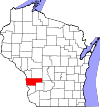 State map highlighting Vernon County