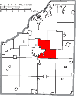 Location of Center Township in Wood County