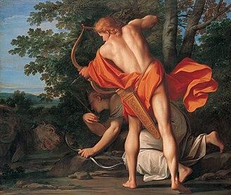 Marcantonio Franceschini - Apollo and Diana kill the python, paintings decorating the Liechtenstein Palace, Vienna (1692–1709)