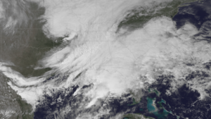 March 2017 North American blizzard - The precursor to the blizzard developing over the Southeastern United States on March 13