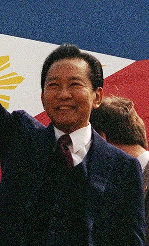 English: Cropped picture of President Marcos i...