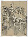 Marcus Aurelius on Horseback (recto); Study of an Antique Vase (verso) MET DP838059.jpg