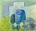 Maria Lassnig (1919 - 2014) Brettl vorm Kopf, 1967.jpg
