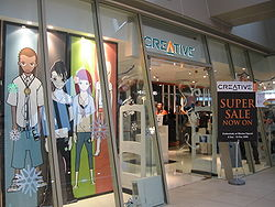 A Creative retail outlet at Marina Square, Singapore.